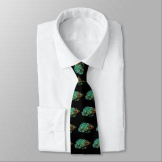 Malachit-grünes MineralFoto auf schwarzem Krawatten
