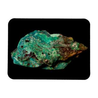 Malachit-grünes MineralFoto auf Schwarzem Magnet