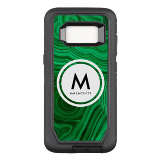Malachit-Mineral-Monogramm OtterBox Defender Samsung Galaxy S8 Hülle