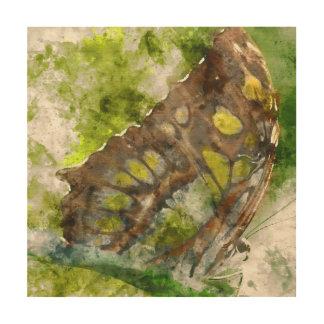 malachit Schmetterling Holzwanddeko
