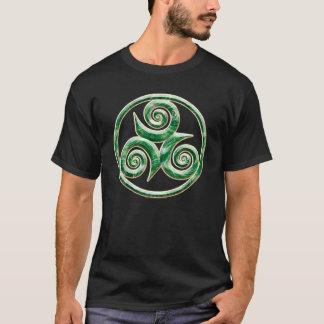 Malachit Triskel Dunkelheit T-Shirt