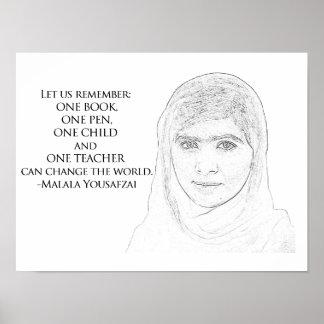 Malala Yousafzai Plakat