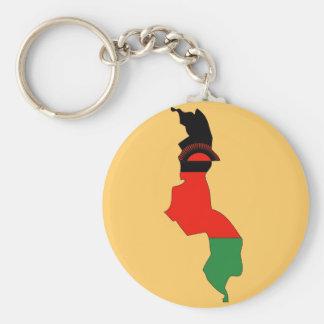 Malawi-Flaggenkarte Schlüsselanhänger