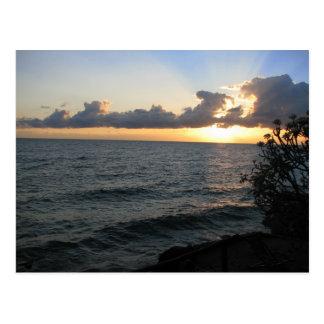 Malawi-Sonnenaufgang Postkarte