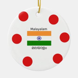 Malayalam-Sprache und Indien-Flaggen-Entwurf Keramik Ornament