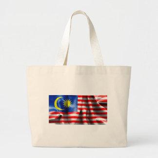 Malaysia-Flagge Jumbo Stoffbeutel