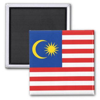 Malaysia-Flaggen-Magnet Quadratischer Magnet
