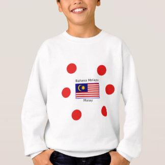 Malaysiaflaggen-und -malaie-Sprachentwurf Sweatshirt
