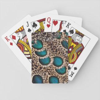 Malaysische Pfau-Fasan Federn Spielkarten