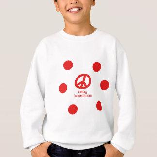 Malaysische Sprache und Friedenssymbol-Entwurf Sweatshirt