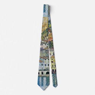 Malcesine auf See Garda durch Gustav Klimt Bedruckte Krawatte