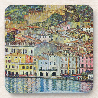 Malcesine auf See Garda durch Gustav Klimt Getränk Untersetzer