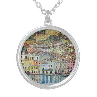 Malcesine auf See Garda durch Gustav Klimt Versilberte Kette