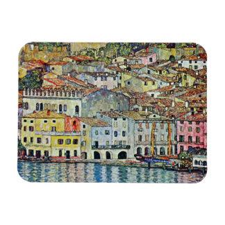 Malcesine auf See Garda durch Gustav Klimt Vinyl Magnet