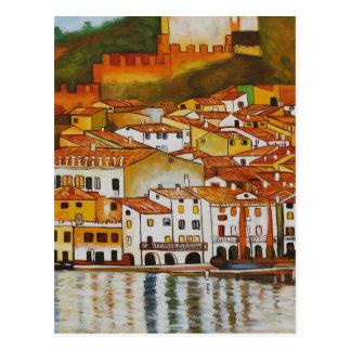Malcesine auf See Garda niedlich Postkarte