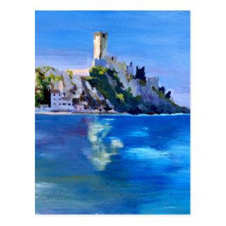 Malcesine mit Castello Scaligero Postkarte