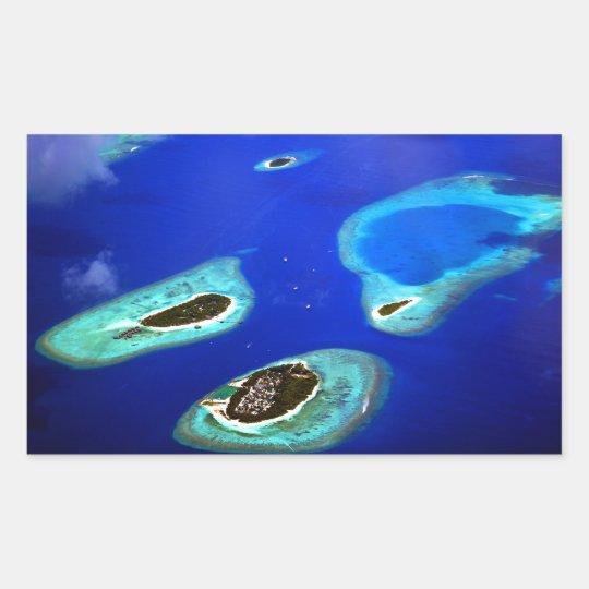 Maldives Rechteckiger Aufkleber