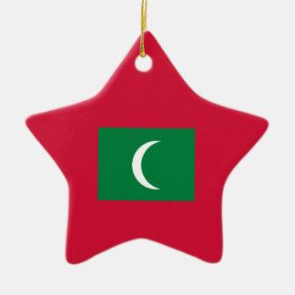 Malediven-Flagge Keramik Ornament