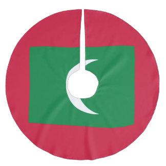 Malediven-Flagge Polyester Weihnachtsbaumdecke