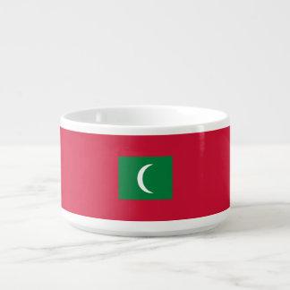 Malediven-Flagge Schüssel