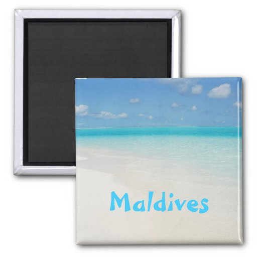 Malediven-Flitterwochenstrand-Inselszene Kühlschrankmagnet