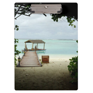 Malediven-Insel-Boot Klemmbrett