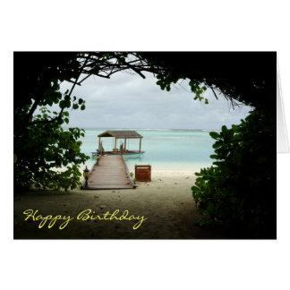 Malediven-Insel-Boots-Geburtstags-Karte