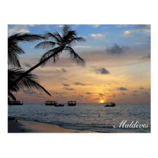 Malediven- - Kandoluduinsel an der Postkarte