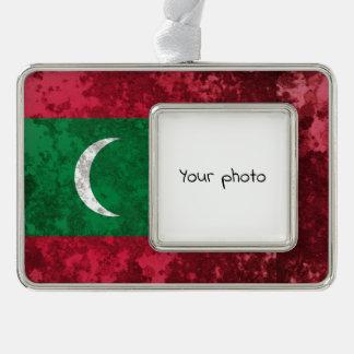 Malediven Rahmen-Ornament Silber