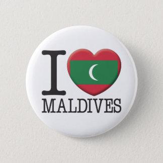 Malediven Runder Button 5,7 Cm