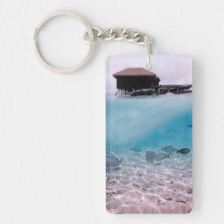 Malediven-Spaß-schnorchelnde Schlüsselanhänger