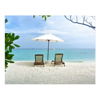 Malediven-Strand Postkarte