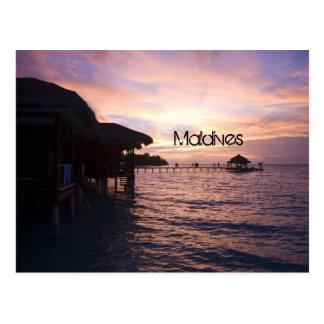 Malediven-Strandpostkarte Postkarte