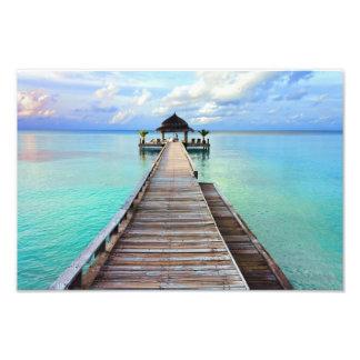 Maledivenserenade-Anlegestelle Photodruck
