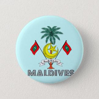 Maledivisches Emblem Runder Button 5,1 Cm