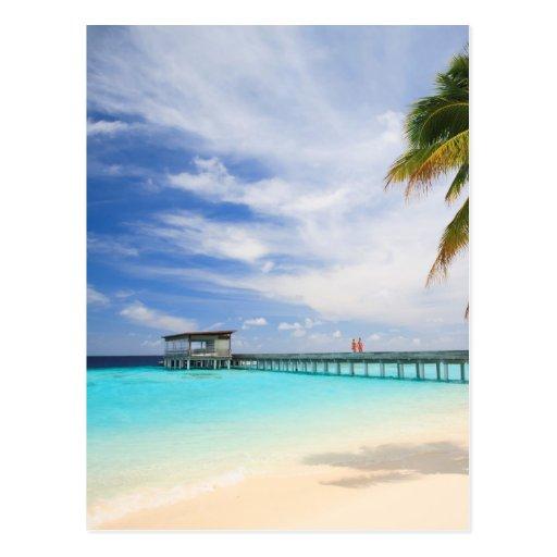 Maledivisches Entweichen Postkarten