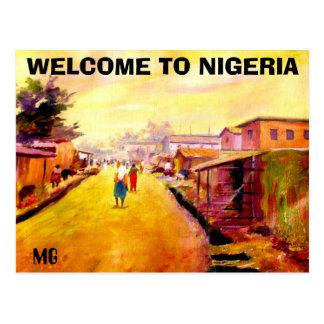 MALEN 5 Kopie, WILLKOMMEN NACH NIGERIA, MG Postkarte