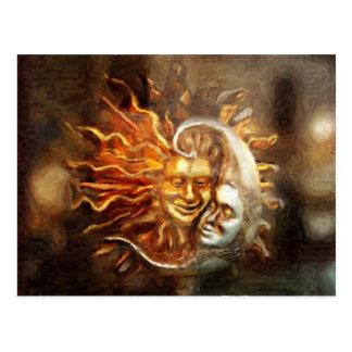 Malen: MondLieben Solar Postkarte