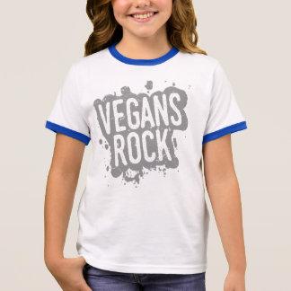 Malen Sie den Spritzer VEGANS-FELSEN (gry) Ringer T-Shirt