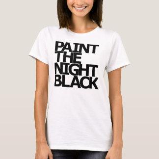 Malen Sie der Nachtschwarzen Frauen T-Shirt