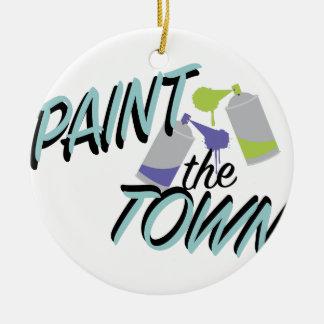 Malen Sie die Stadt Keramik Ornament