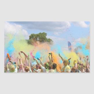 Malen Sie Festival Rechteckiger Aufkleber