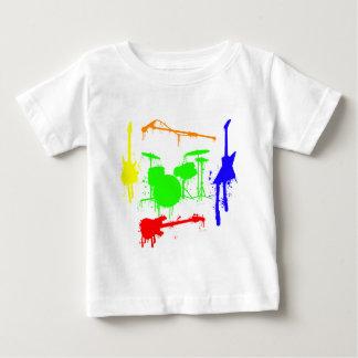 Malen Sie Graffiti Musikinstrumente des Spritzers Baby T-shirt