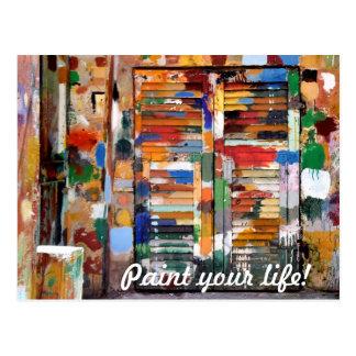 malen Sie Ihr Leben! Postkarte