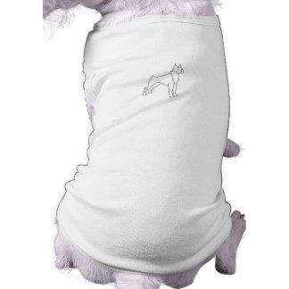 Malen Sie Ihre eigene Boxer-Hundehaustier-Kleidung Top