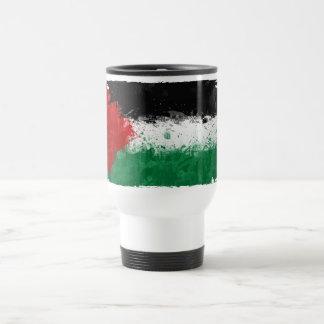 Malen Sie Kunst-Schmutz-Palästina-Flagge Reisebecher