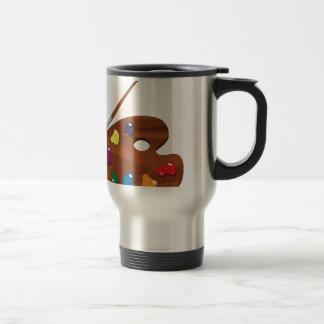 Malen Sie Palette Kaffeetassen