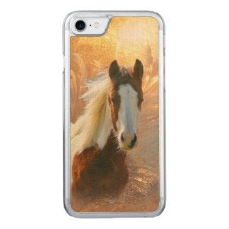 Malen Sie Pferd hölzern Carved iPhone 8/7 Hülle