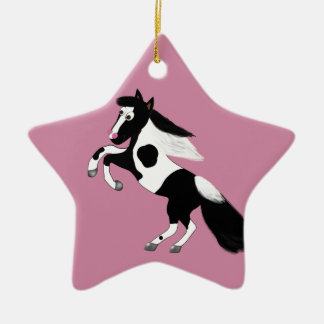 Malen Sie Pferd Keramik Ornament