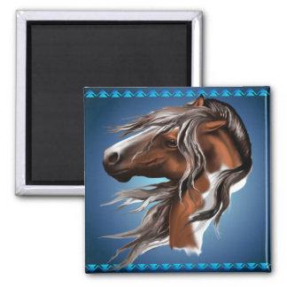 Malen Sie Pferdegesichts-Magneten Quadratischer Magnet
